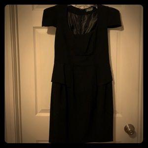Maude structured little black dress